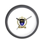 DEVOST Family Crest Wall Clock