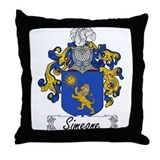Simeone Family Crest Throw Pillow