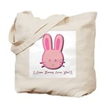 Breast Cancer Bunny Tote Bag