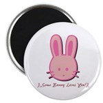 Breast Cancer Bunny Magnet