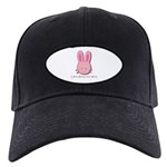 Breast Cancer Bunny Black Cap