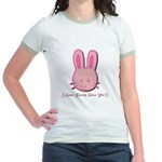 Breast Cancer Bunny Jr. Ringer T-Shirt