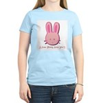 Breast Cancer Bunny Women's Pink T-Shirt