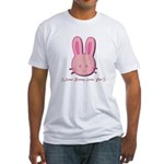 Breast Cancer Bunny Fitted T-Shirt
