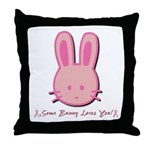 Breast Cancer Bunny Throw Pillow