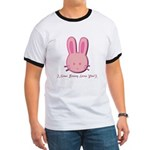 Breast Cancer Bunny Ringer T