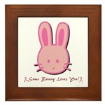Breast Cancer Bunny Framed Tile