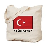Flag of Turkiye Tote Bag
