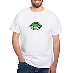 Green Shell White T-Shirt