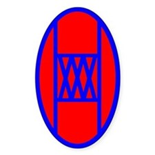 30th Infantry Division Oval Decal