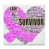 I am...Survivor Tile Coaster