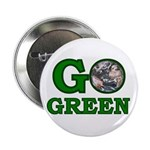 """Go Green 2.25"""" Button (10 pack)"""