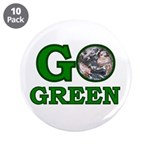 """Go Green 3.5"""" Button (10 pack)"""