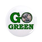 """Go Green 3.5"""" Button (100 pack)"""