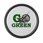 Go Green Large Wall Clock