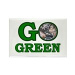 Go Green Rectangle Magnet (10 pack)