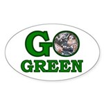 Go Green Oval Sticker (10 pk)