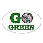 Go Green Oval Sticker