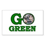 Go Green Rectangle Sticker 10 pk)