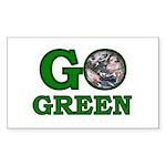 Go Green Rectangle Sticker 50 pk)