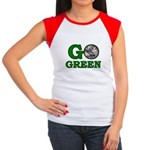 Go Green Women's Cap Sleeve T-Shirt