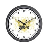 Paid in Full Biker Wall Clock