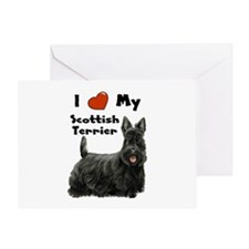 I Love My Scottish Terrier Greeting Card