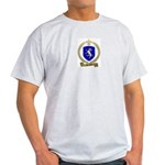 DENEAU Family Crest Ash Grey T-Shirt