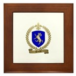 DENEAU Family Crest Framed Tile