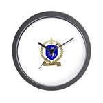 DENEAU Family Crest Wall Clock