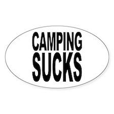 Camping Sucks Oval Sticker (50 pk)
