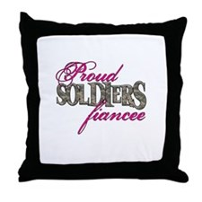 Proud Soldiers Fiancee Throw Pillow