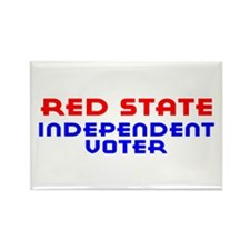 Red State Independent Voter Rectangle Magnet