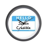 Justin Credible Wall Clock