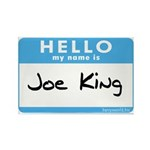 Joe King Rectangle Magnet (100 pack)