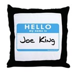 Joe King Throw Pillow