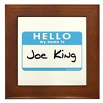 Joe King Framed Tile