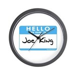 Joe King Wall Clock
