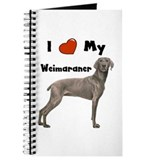 I Love My Weimaraner Journal
