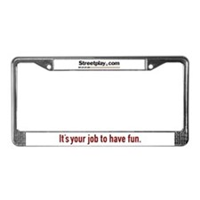Streetplay License Plate Frame