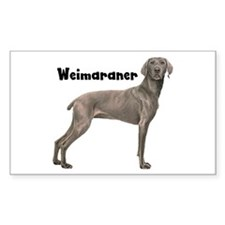 Weimaraner Rectangle Decal