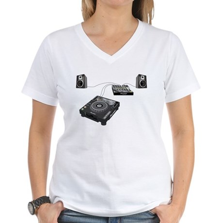 My CDJ Setup Women's V-Neck T-Shirt