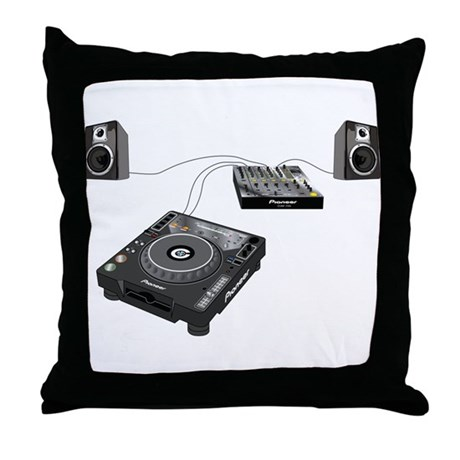 My CDJ Setup Throw Pillow