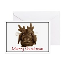 Christmas little reindeer Greeting Cards (Package