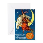 Owl and Witch Greeting Cards (Pk of 10)