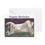 Fuzzy Lop Rabbit Birthday Cards (Pk of 20)