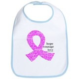 Breast Cancer Ribbons Bib