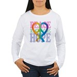 PeaceLoveRibbon_4 Women's Long Sleeve T-Shirt