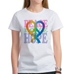 PeaceLoveRibbon_4 Women's T-Shirt