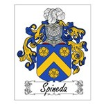 Spineda Family Crest Small Poster